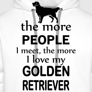 The More People I Meet The More I Love My Retrier Long sleeve shirts - Men's Premium Hoodie