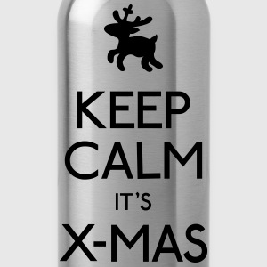 Keep Calm X-mas kalm x-mas houden Sweaters - Drinkfles