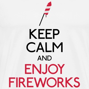keep calm fireworks Sweaters - Mannen Premium T-shirt