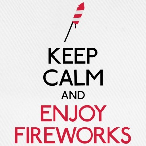 keep calm fireworks T-Shirts - Baseball Cap