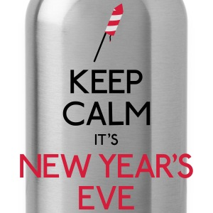 keep calm new year mantenere la calma di capodanno Felpe - Borraccia