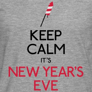 keep calm new year garder calme nouvel an Sweat-shirts - T-shirt manches longues Premium Homme
