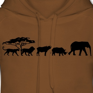 Big Five dans la savane Tee shirts - Sweat-shirt à capuche Premium pour femmes