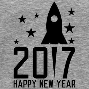 Happy New Year 2017 Långärmade T-shirts - Premium-T-shirt herr