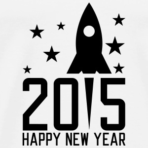 Happy New Year 2015 Långärmade T-shirts - Premium-T-shirt herr