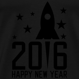 Happy New Year 2016 Sweatshirts - Herre premium T-shirt