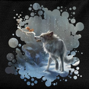 Black winter wolf T-Shirts - Kids' Backpack