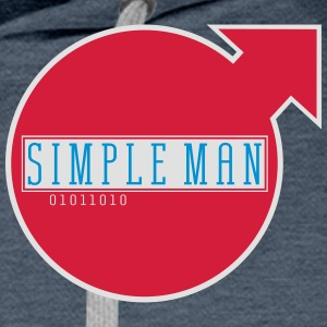 simple man_vec_3 en - Men's Premium Hoodie