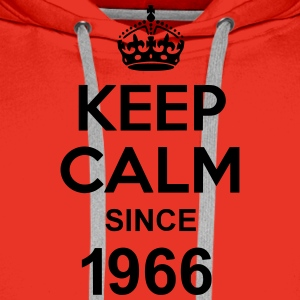 Keep Calm Since 1966 T-shirts - Premiumluvtröja herr