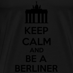 Keep Calm And Be A Berliner Tank Tops - Herre premium T-shirt