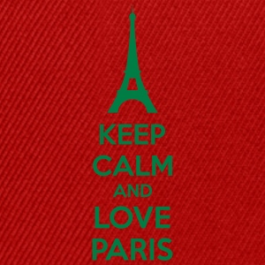 Keep Calm And Love Paris Camisetas - Gorra Snapback