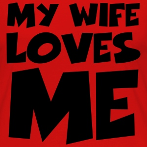 My wife loves me T-shirts - Vrouwen Premium shirt met lange mouwen