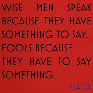 Plato quote wise men - Cooking Apron
