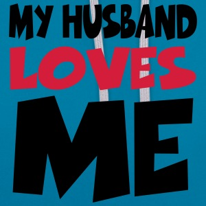 My husband loves me T-shirts - Contrast hoodie