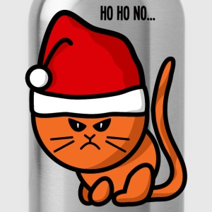 ho ho no moody cat christmas Manches longues - Gourde