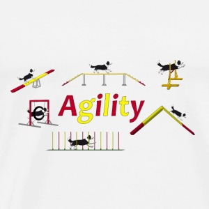 Agility equipment with Titel.png Toppe - Herre premium T-shirt