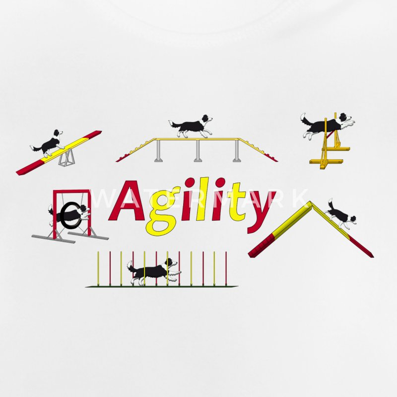 Agility Geräte mit Titel.png T-Shirts - Baby T-Shirt