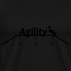 Agility bridge with Schrift.svg Gensere - Premium T-skjorte for menn