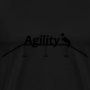 Agility bridge with Schrift.svg Sportkleding - Mannen Premium T-shirt
