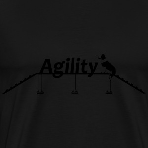 Agility bridge with Schrift.svg Tröjor - Premium-T-shirt herr