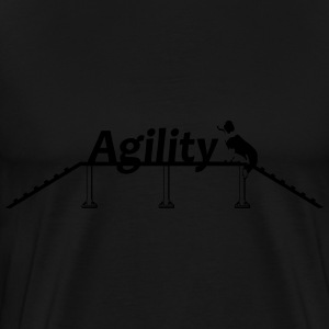 Agility bridge with Schrift.svg Sweatshirts - Herre premium T-shirt
