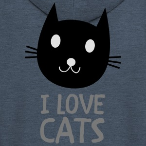 I Love Cats T-Shirts - Men's Premium Hooded Jacket