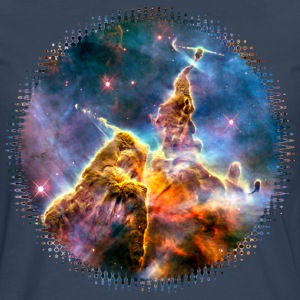 Mystic Mountain, Carina Nebula, Space, Galaxy, Tee shirts - T-shirt manches longues Premium Homme