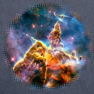 Mystic Mountain, Carina Nebula, Space, Galaxy, Magliette - Borsa in materiale riciclato
