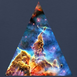 Triangle Mystic Mountain, Carina Nebula, Space, Galaxy, Camisetas - Tank top premium hombre