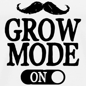 Moustache Grow Mode On Sudaderas - Camiseta premium hombre