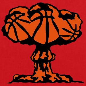 basketball explosion champignon nucleair Tee shirts - Tote Bag