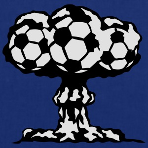 Fußball Atompilz Explosion T-Shirts - Stoffbeutel
