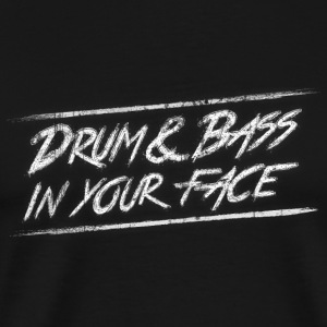 Drum & bass in your face / Party / Rave / Dj Langærmede t-shirts - Herre premium T-shirt