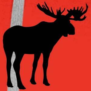 Moose Long Sleeve Shirts - Men's Premium Hoodie