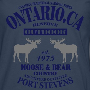 Canada - Moose & Bear Country T-Shirts - Men's Premium Longsleeve Shirt