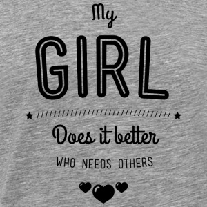 My girl does it better Tank Tops - Männer Premium T-Shirt