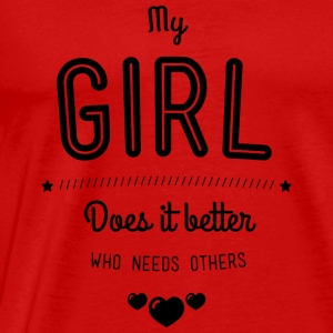My girl does it better Manches longues - T-shirt Premium Homme
