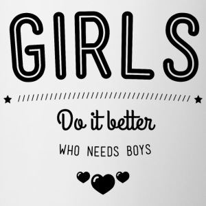 Girls do it better T-shirts - Mugg