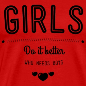 Girls do it better Singlets - Premium T-skjorte for menn