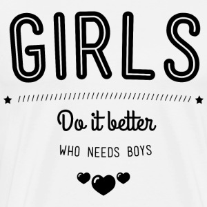 Girls do it better Langærmede t-shirts - Herre premium T-shirt