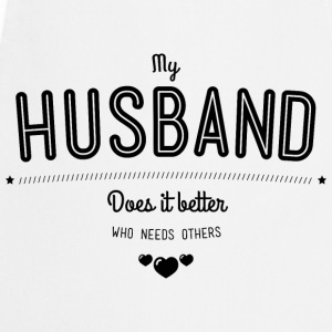 My husband does it better T-shirts - Forklæde