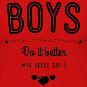 Boys do it better Tanktoppar - Långärmad premium-T-shirt dam