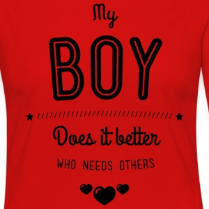 My boy does it better T-shirts - Långärmad premium-T-shirt dam