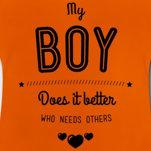 My boy does it better T-shirts - Baby-T-shirt