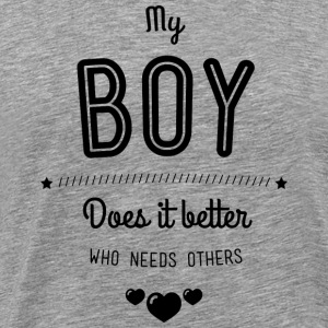My boy does it better Manches longues - T-shirt Premium Homme