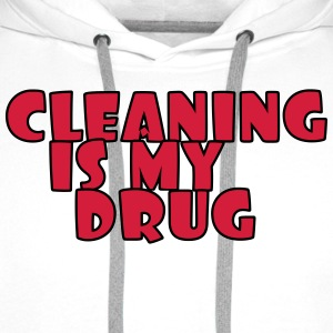 Cleaning is my drug T-shirts - Mannen Premium hoodie