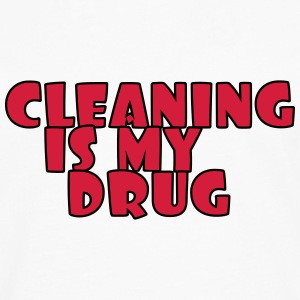 Cleaning is my drug T-shirts - Mannen Premium shirt met lange mouwen