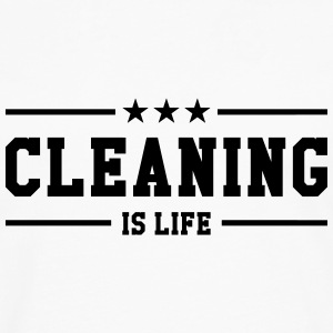 Cleaning is life ! T-shirts - Mannen Premium shirt met lange mouwen