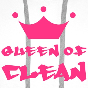 Queen of Clean T-skjorter - Premium hettegenser for menn