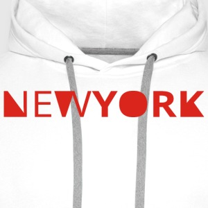 newyork Long sleeve shirts - Men's Premium Hoodie